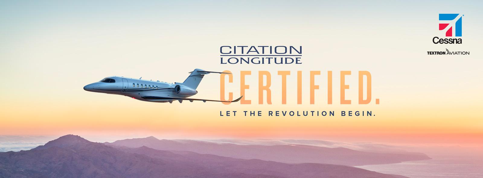 Cessna Citation Longitude business jet receives FAA Type Certification